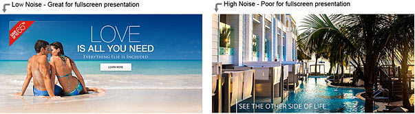 Low noise vs high noise photos