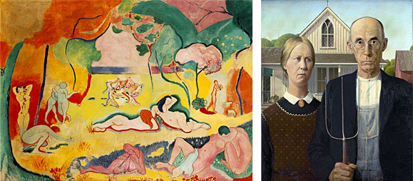Examples of Modernist paintings