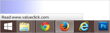 Example of web browser status bar