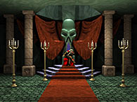 Dracula's throne room in Castlevania: Symphony of the Night (PlayStation 1)